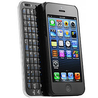 Black SLIDE OUT bluetooth Keyboard case Wireless Thin for iPhone 5