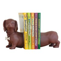 Bits and Pieces - Dachshund Bookends - Prop up Books on Any Shelf, Desk or Table - Unique Home Décor Gift for Dog Enthusiasts