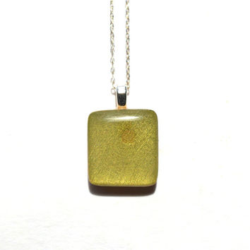 Moss green square pendant necklace wood necklace earth day eco friendly bridesmaid jewelry fall jewelry starlightwoods