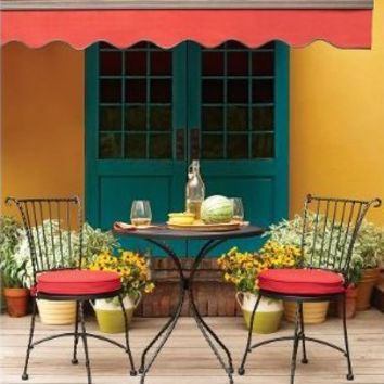 Outdoor Patio Home Piazza 3-pc. Wrought Iron Red Bistro Set : Target