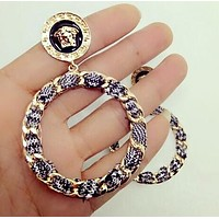 VERSACE Fashionable Ladies Exaggerated Personality Circular Earrings Accessories Jewelry