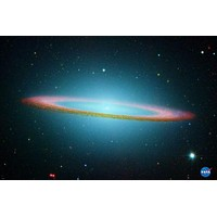 SOMBRERO GALAXY poster outer space RED RINGS bright STARS lights NEW 24X36 - RW9