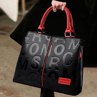 Ladies Quality Leather Letter Shoulder Bags for Women 2021 Luxury Handbags Women Bags Designer Fashion Large Capacity Tote Bag