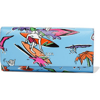 Prada - Printed textured-leather continental wallet
