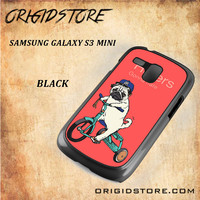 Haters Gonna Hate Pug Bicycle Snap on Black White and 3D Samsung Galaxy S3 Mini Case
