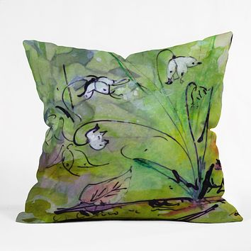Ginette Fine Art Lily Of The Valley Outdoor Throw Pillow