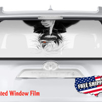 Anime Hanging Down Naruto Bleach Full Color Print Perforated Film Truck SUV Back Window Sticker Perf003