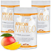 truDERMA Extreme African Mango Extract: Advanced Weight Loss Supplement Plus Pure Irvingia Gabonensis IGOB131 Lose 28 lbs. in 10 Weeks* | 60 Capsules