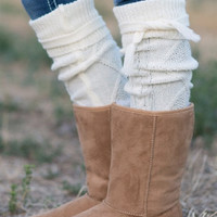 Cable Knit Boot Sock