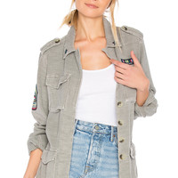 SUNDRY Patches Army Jacket in Pigment Olive | REVOLVE