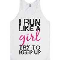 Try To Keep Up-Unisex White Tank