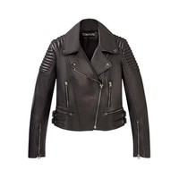 CLASSIC FITTED LEATHER BIKER JACKET