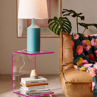 Rolling Acrylic Side Table | Urban Outfitters