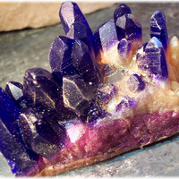 Amethyst  Crystal Geode Soap Rock Purple, Violet and Gold