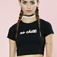 No Chill Graphic Crop Top