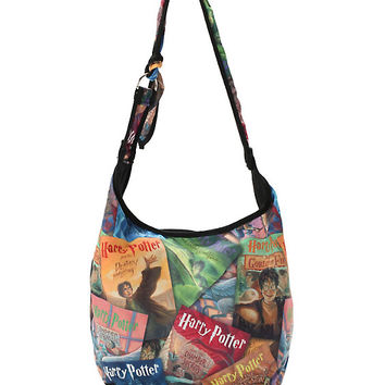 Harry Potter Book Covers Hobo Bag
