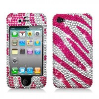 Aimo Wireless IPHONE4GPCDI186 Bling Brilliance Premium Grade Diamond Case for iPhone 4 - Retail Packaging - Hot Pink