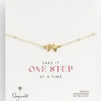 Dogeared 'One Step at a Time' Wings Station Anklet