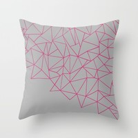 Ab Storm Hot Grey Throw Pillow by Project M