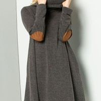 Charcoal Sweater Dress