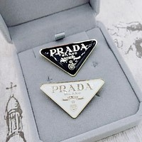 Prada brooch all-match pin for women and men temperament and personality coat western accessory corsage