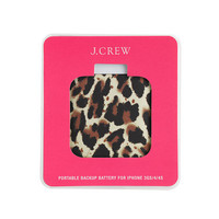 Leopard print portable backup battery for iPhone