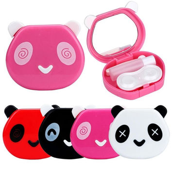 Cartoon Panda Candy Color Contact Lens Box Case For Eyes Care Kit = 1958616260