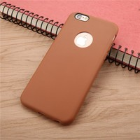 Candy Colorful Soft Texture TPU Skin Cover For iphone 6 6S 7 Plus SE 5 5s Case Ultra Thin Durable Silicon Shockproof Phone Cases