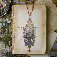 lace necklace LUPHIA by whiteowl on Etsy
