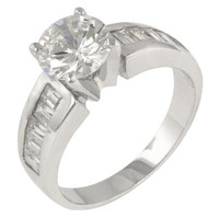 Antoinette Silver Engagement Ring, size : 08