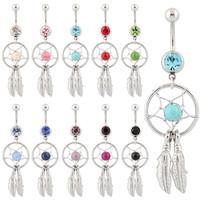Belly Button Ring Dangle Dream Catcher