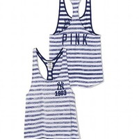 New York Yankees High-Low Striped Tank