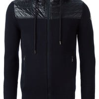 Moncler quilted panel cardigan