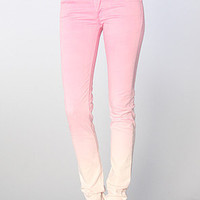 The Narrow Lo-Waist Skinny Jean in Faded Pink