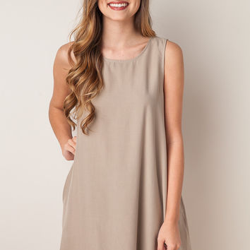 For A Lifetime Taupe Dress