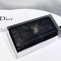 Dior  New fashion leather wallet purse handbag women Black