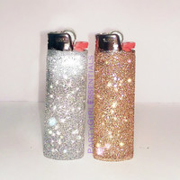 2 Bic Glitter Lighters - Fancy