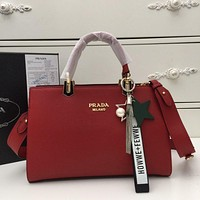 prada women leather shoulder bags satchel tote bag handbag shopping leather tote crossbody 170