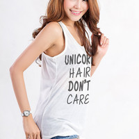 Unicorn Tank TShirt Women Shirts for Teens Tops Tumblr T Shirt Cute Tank Tops with Sayings Shirts Instagram Hipster Graphic Tee Clothing