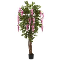 SheilaShrubs.com: 6.5' Wisteria Silk Tree 5349 by Nearly Natural : Artificial Flowers & Plants