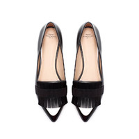 POINTY MOCCASIN WITH FOLD - OVER FLAP - Flat shoes - Shoes - TRF | ZARA United States
