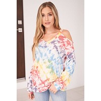 Everyday In Paradise Multi Tie Dye Top