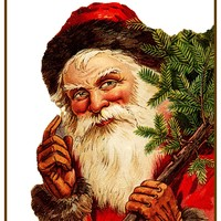 Father Christmas Santa Claus 97 Holiday Counted Cross Stitch Pattern