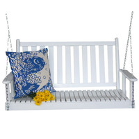 White Ash Wood Slatted Back Porch Swing - Made in USA