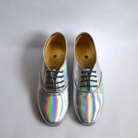Holographic Vegan Oxfords