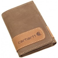 Carhartt Two-Tone Brown Leather Trifold Wallet