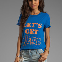 Local Celebrity Let's Get Weird Tee in Royal from REVOLVEclothing.com