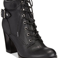 Style&co. Caitlin Lace-Up Booties, Only at Macy's - Boots - Shoes - Macy's