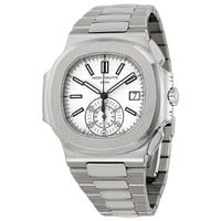 Patek Philippe Nautilus Silver Dial Stainless Steel Mens Watch 5980-1A-019