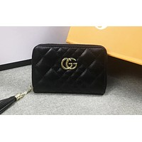 GUCCI hot seller of stylish women's casual color zigzag line purses Black